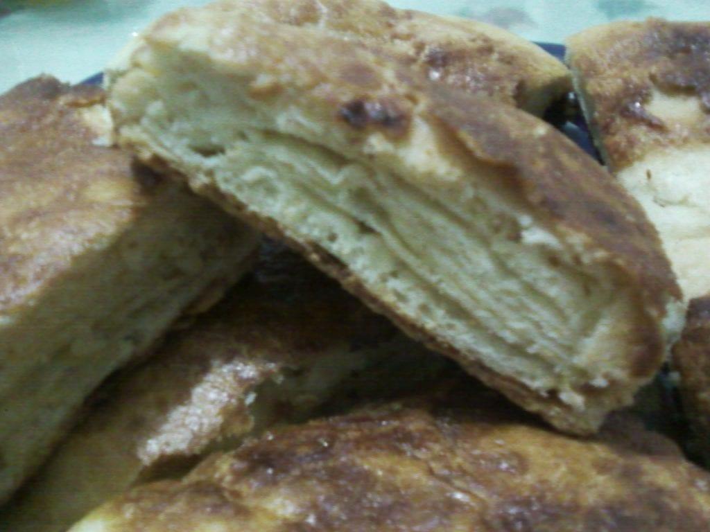 الخبز المغربي باالسكر و الزبدة
