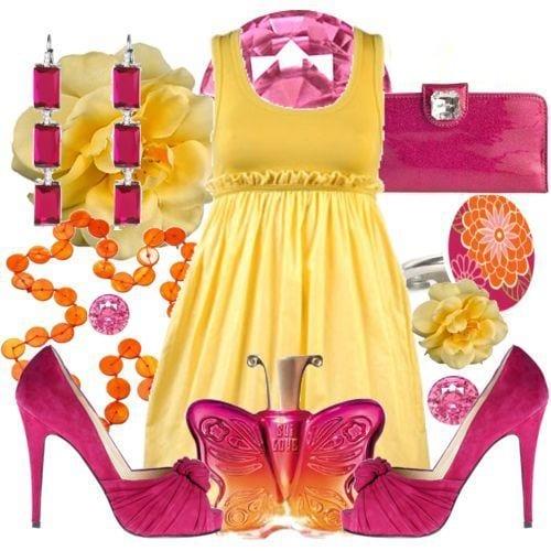 تشكيلة من الأزياء بألوان صيف 2012