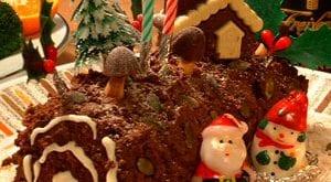 Préparation de la Bûche de Noël