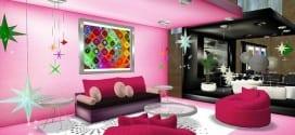 ديكورات جميلة بالون الوردي للبنات - 15