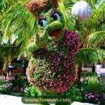 صور جميلة لتماثيل مصنوعة من الاعشاب والازهار 10