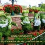 صور جميلة لتماثيل مصنوعة من الاعشاب والازهار 4