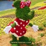 صور جميلة لتماثيل مصنوعة من الاعشاب والازهار 7