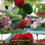صور جميلة لتماثيل مصنوعة من الاعشاب والازهار 8