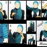 ربطات حجاب خطوة خطوة بالصور - 1