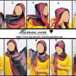 ربطات حجاب خطوة خطوة بالصور - 5
