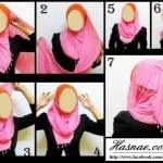 ربطات حجاب خطوة خطوة بالصور - 9