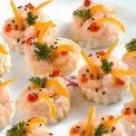 Canapés aux Crevettes - طريقة تحضير مقبلات بالقمرون IMG