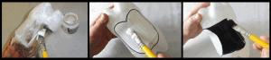 كيفية عمل ديكور سهل على شكل بطاريق جميلة - الخطوة الثانية