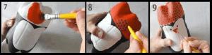 كيفية عمل ديكور سهل على شكل بطاريق جميلة - الخطوة الثالثة