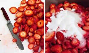 طريقة تحضير الايس كريم بالفراولة