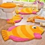 ديكور مفارش حمامات بالوان صيف 2013 - 4