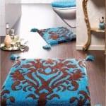 ديكور مفارش حمامات بالوان صيف 2013 - 9