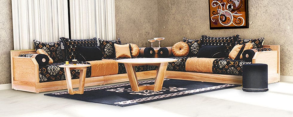 salon marocain and salons on pinterest. Black Bedroom Furniture Sets. Home Design Ideas