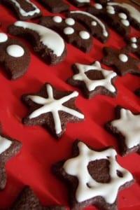 عمل كوكيز عيد الميلاد بالشكولاتة - 4