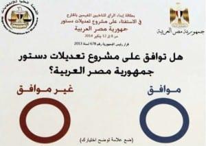 نتائج استفتاء الدستور المصري 2014
