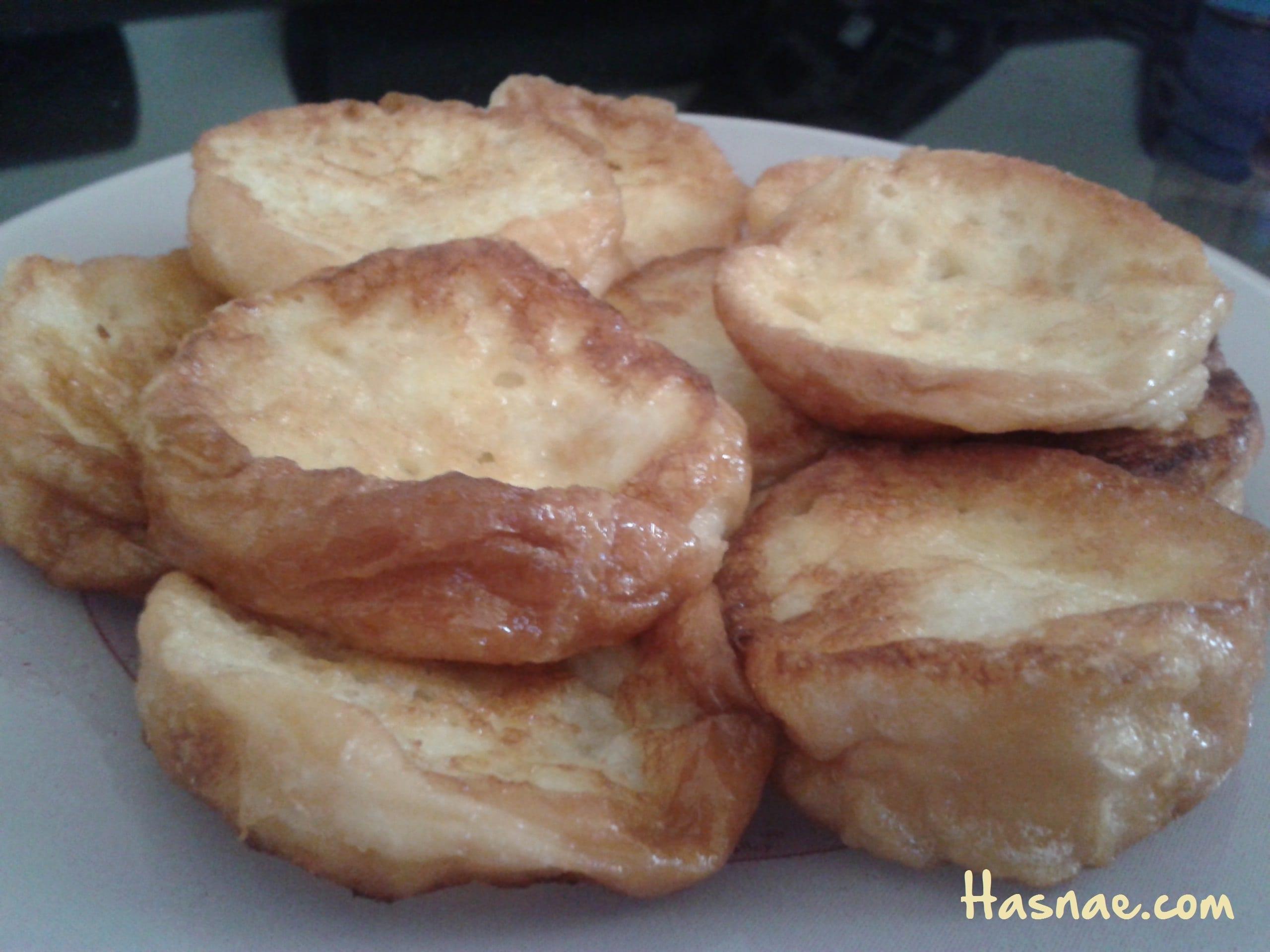 خبز مقلي سهل و لذيذ