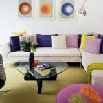 صور جميلة من صالونات بألوان حيوية تحفة - 9