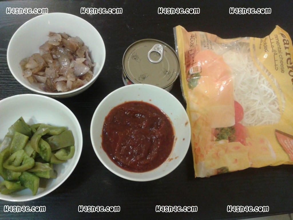 بيتزا التونة مختلفة و سهلة - 2