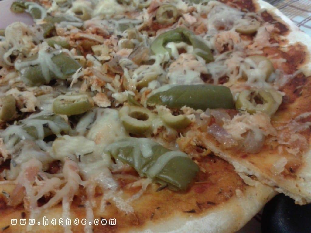 بيتزا التونة مختلفة و سهلة