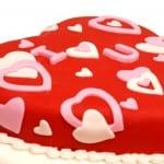 كيكة البراوني لعيد الحب
