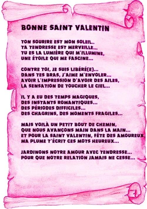 Belle collection de poèmes d'amour pour la Saint Valentin 2018 - 1
