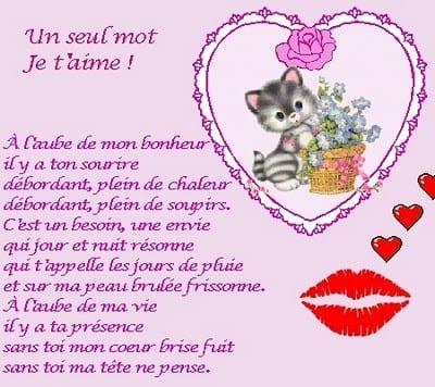 Belle collection de poèmes d'amour pour la Saint Valentin 2018 - 2
