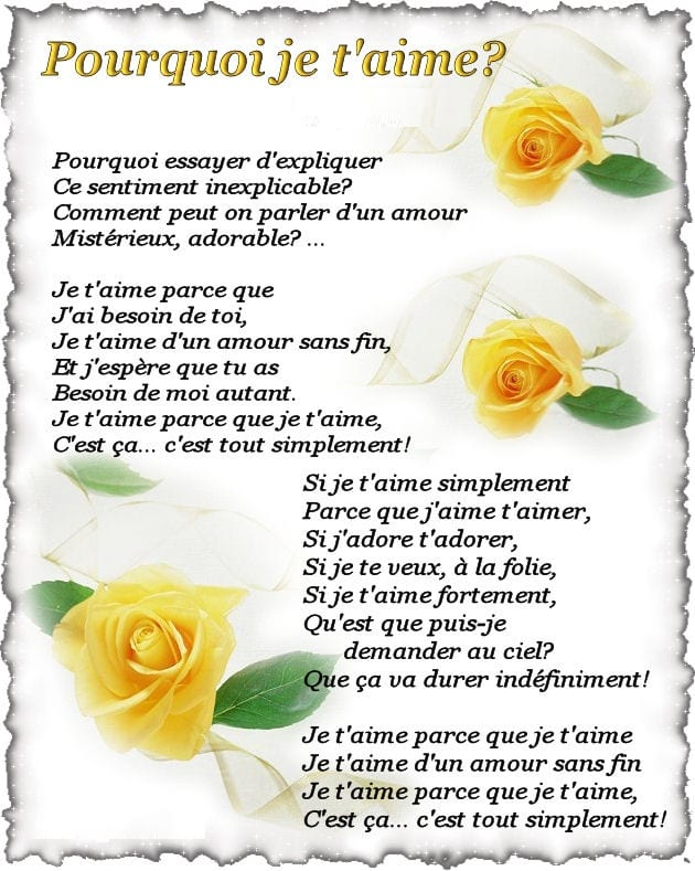 Belle collection de poèmes d'amour pour la Saint Valentin 2018 - 4