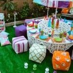 ديكور بألوان فاقعة لتزيين مائدة رمضان