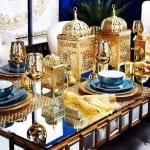 ديكور ذهبي جميل لتزيين مائدة رمضان