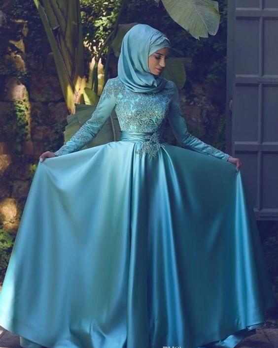 فساتين سهرة من الحجاب التركي 2016 - 2