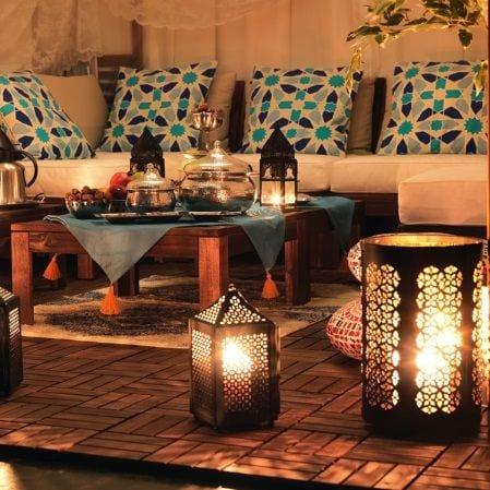 صالونات مغربية 2017 مزينة بفوانيس رمضان 2017 - 6