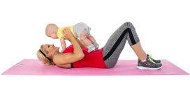 تمارين للتخلص من البطن  بعد الولادة