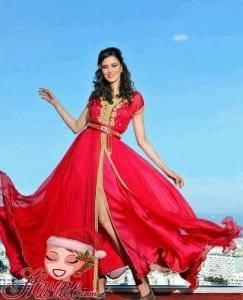 قفاطين مغربية مثيرة باللون الأحمر لعيد الحب 2018 - 2