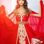 قفاطين مغربية مثيرة باللون الأحمر لعيد الحب 2018 - 5