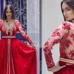 قفاطين مغربية مثيرة باللون الأحمر لعيد الحب 2018