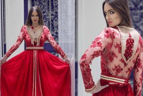 قفاطين مغربية مثيرة باللون الأحمر لعيد الحب