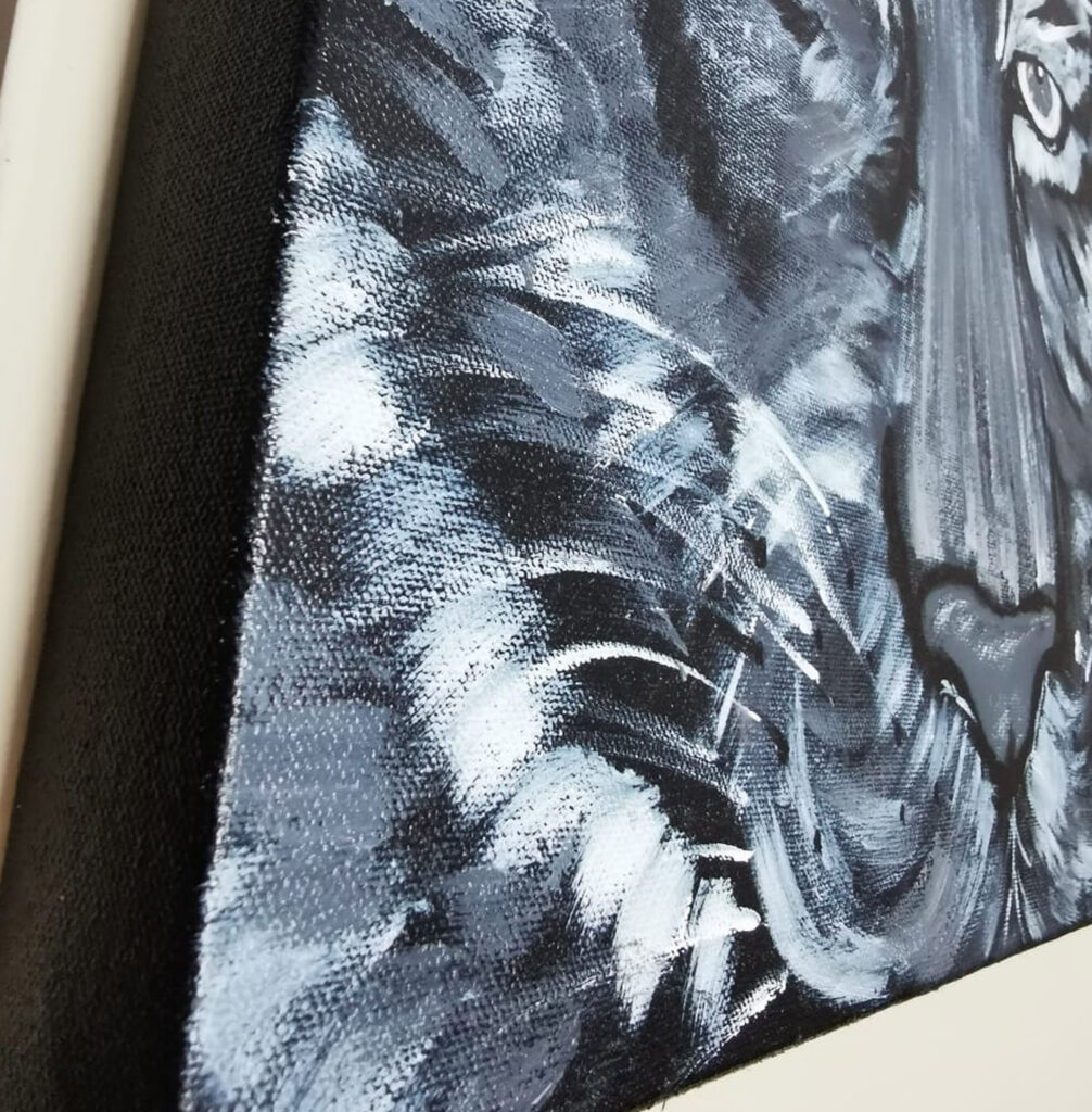 Black and White Tiger Painting 2