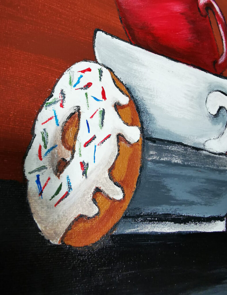 Acrylic Painting Breakfast cups 2