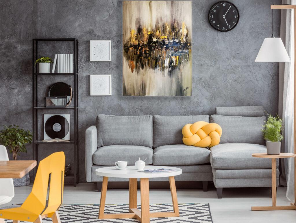 Abstract Acrylic Hand-made Paintin